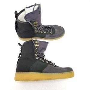 Nike SF AF1 PRM Sherpa Fleece Boots Shoes Black